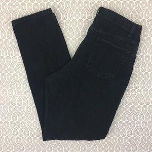 Wrangler Black High Waisted Mom Jeans SZ 14X34 J1
